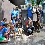 SASF and Shelter volunteers at the Pride Parade